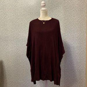 ❤️A New Day Dark Purple Sleeveless Sweater Poncho